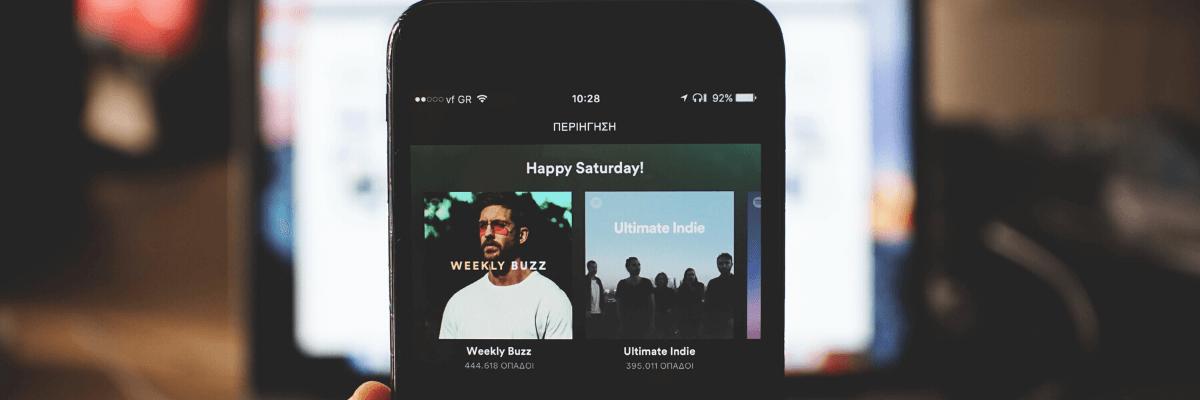 Spotify Analytics przykładowe playlisty w serwisie streamingowym