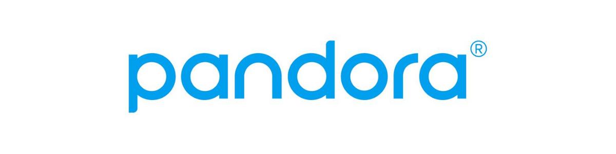 Muzyczne serwisy streamingowe. Pandora logotyp. Music streaming services